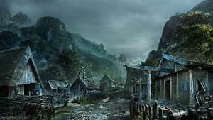 Dark, Mountain, Village, Wallpapers, -, Top, Free, Dark, Mountain, Village, Backgrounds