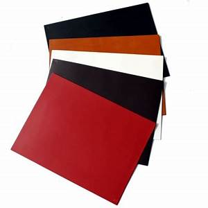 Ukreal leather hide large placemats red black white for Oversized placemats