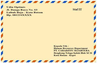 contoh surat lamaran kerja bawaslu kabupaten