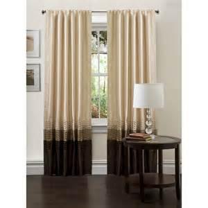 lush d 233 cor mia taupe chocolate window curtains pair 54