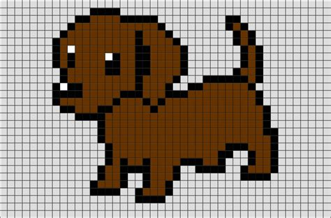 dog pixel art brik