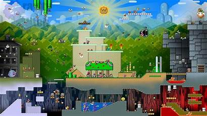 Mario Super Backgrounds Pulchritudinous Pixelstalk