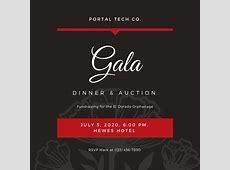 Customize 76+ Gala Invitation templates online Canva