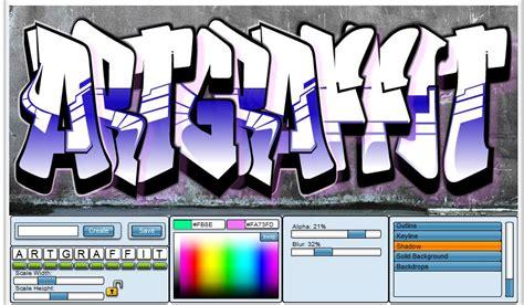 Graffiti Editor Online :  Newdesignfile.com