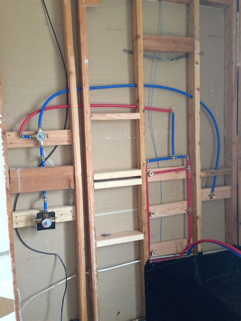 plumbing  shower  pex woodworking projects