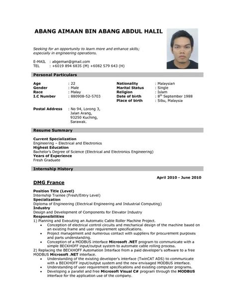 Free Resume Application by Best 25 Sle Resume Format Ideas On Free