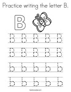 Practice Writing Letter B Coloring Pages