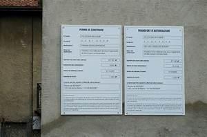 Affichage Permis De Construire : panneau commercial panneau permis construire fabrication ~ Dallasstarsshop.com Idées de Décoration