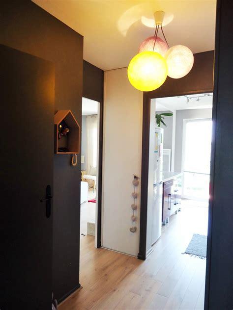 quelle couleur peinture pour cuisine une entrée et un couloir contrastés home by