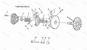 Polaris Atv 2006 Oem Parts Diagram For Drive Clutch A06mh46 All Options