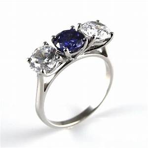 diamond unique tanzanite diamond trilogy ring solid With solid silver wedding rings