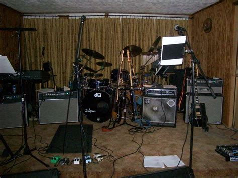 Typical Band Stage Setup