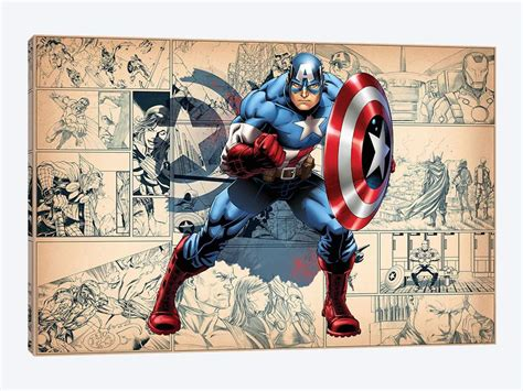 Captain America On Comic P...