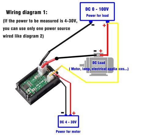 dc 100a 100v digital volt meter voltmeter ammeter blue