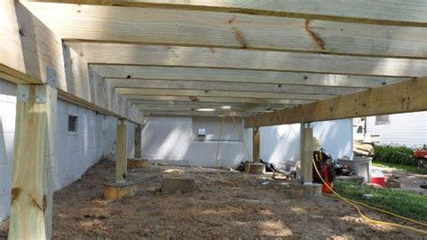 Free Standing Deck Framing free standing deck frame