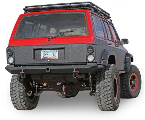 jeep cherokee rear bumper or fab 83245bb or fab heavy duty comp cut rear bumper