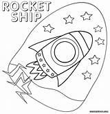 Rocket Coloring Ship Sheet Colorings sketch template
