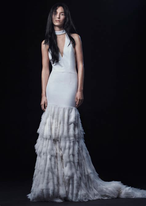 vera wang fall  wedding dress collection dipped  lace