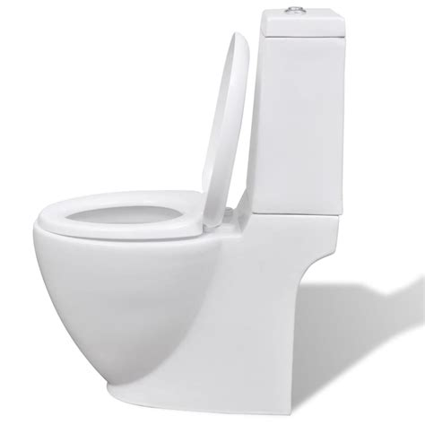 Toilet And Bidet Set by White Ceramic Toilet Bidet Set Vidaxl Co Uk