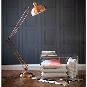 copper angled floor lamp french bedroom company With hector angled floor lamp in copper