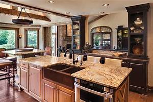 charming rustic kitchen ideas and inspirations traba homes With kitchen cabinet trends 2018 combined with bronze tree wall art