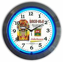 Rock Ola Blue Neon Clock NC 20 15