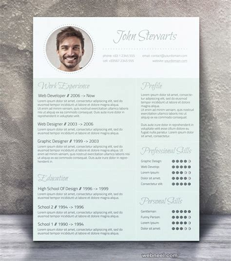 Beautiful Resume Template by 26 Brilliant And Colorful Resume Designs That Will Make