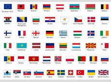 Design elements European country flags