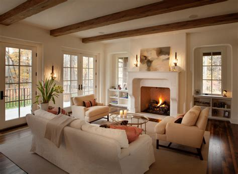 Living Room With Fireplace And Windows by Living Room Home Inspiration Sources