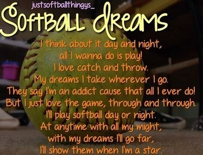 softball quotes  poems quotesgram