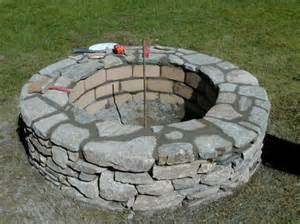 Build Stone Fire Pit