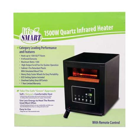 infrared ls for healing new lifesmart 1500 watt black infrared quartz electric