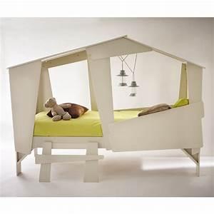 Lit Cabane Pour Enfant : cadre de lit cabane enfant en bois avec sommier drawer ~ Teatrodelosmanantiales.com Idées de Décoration