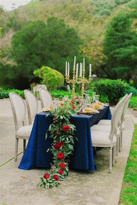 Gallery Beauty and the Beast Wedding Ideas in Gold Navy