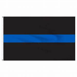 Thin Blue Line Flag 3ft x 5ft Nylon - Police Flag