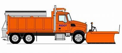 Truck Plow Snow Mack Clipart Drawing Trucks