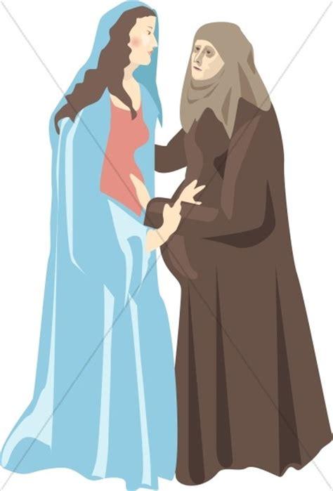 virgin marys visitation  elizabeth nativity clipart