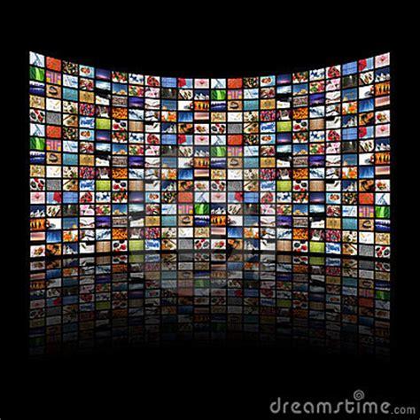 multi media screens displaying imagesinformation royalty