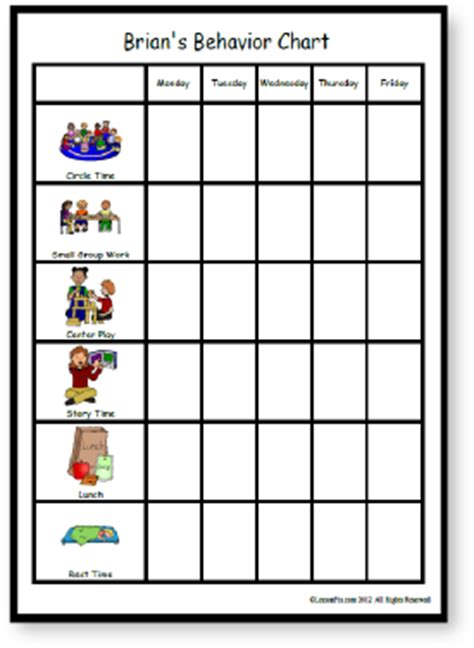 HD wallpapers printable behavior charts for pre k