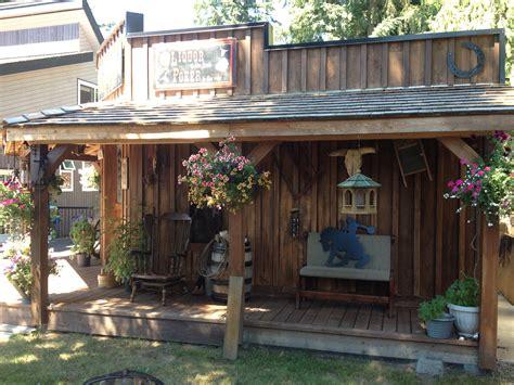 backyard saloon western theme shed saloon look saloon western