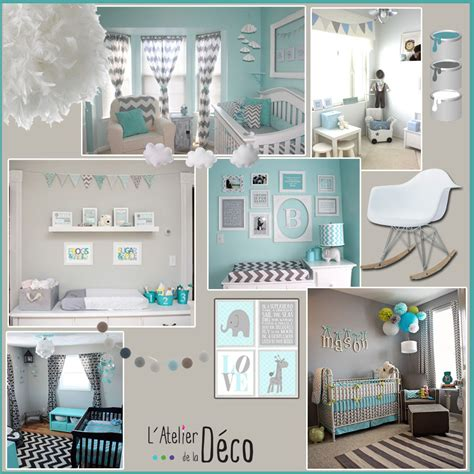 chambre enfant garcon stunning deco chambre bebe garcon bleu et gris