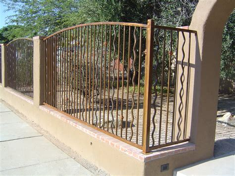 Fireplace Doors Custom by Fence With Wavy Pickets Ironcraft In Az