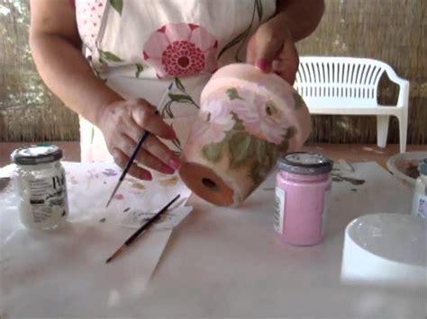 vaso di coccio decoupage vaso di coccio decorato