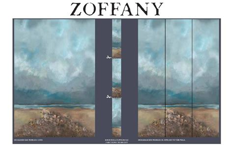 holkham bay pebbles daybreak panels     zoffany