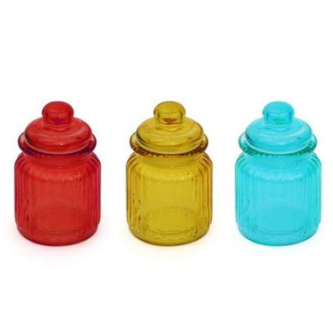 colored kitchen canisters kaanch colored canister blue light yellow set of