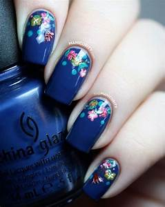 20 beautiful floral nail designs with vintage