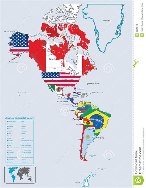 map  south america  north america  travel