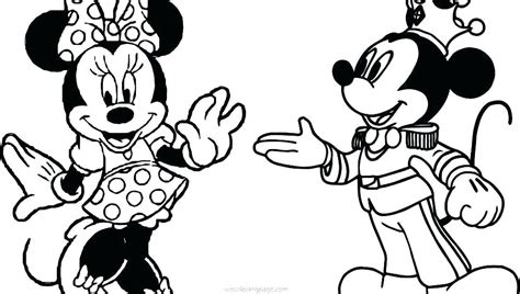 Minnie Mouse And Mickey Mouse Coloring Pages - Eskayalitim