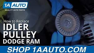 How To Replace Idler Pulleys 04-08 Dodge Ram