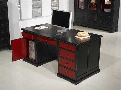 meuble bureau noir superbe bureau ministre spécial informatique en merisier